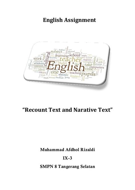 recount text english for pleasure recount and narative