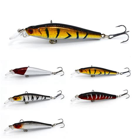 Minnow 8cm Lure Fishing Bait 3 1pcs wobblers tackle bass trout bait fishing lure minnow wobbler 8cm 8 4g baits diving 0 5