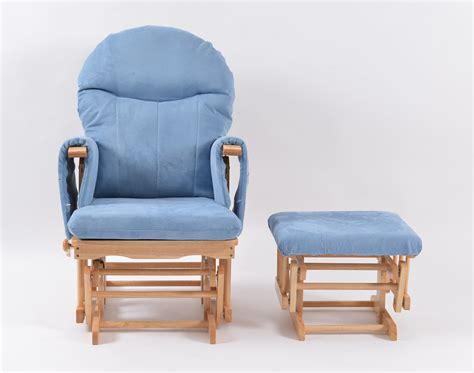 habebe recliner glider chair habebe glider chair stool beech wood blue washable