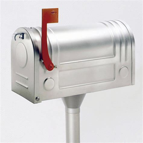 ecco satin stainless steel mailbox traditional - Stainless Steel Mailbox