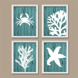 bathroom wall canvas artwork nautical coral reef