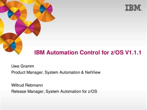 ibm automation for z os