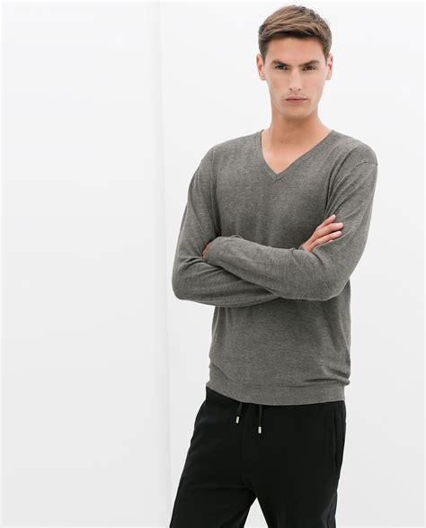 Jual Sweater Rajut V Neck Hive Grey gray vneck sweater sweater tunic