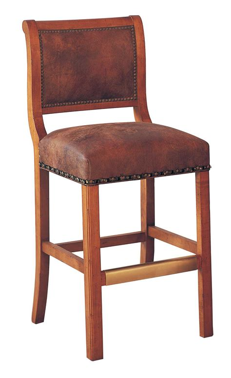 leather counter stools made in usa classic leather regency armless 45 bar stool cl762730