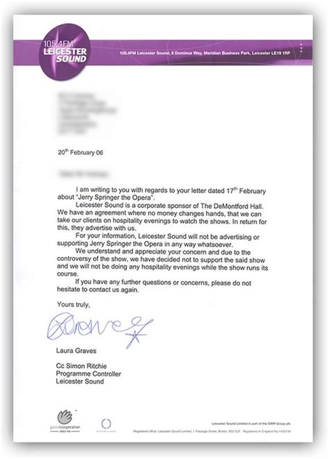 rejection letter template business letters