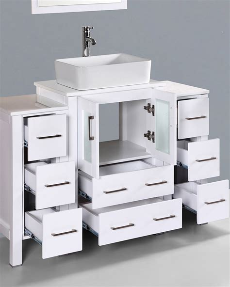 48in bathroom vanity glossy white 48in single vanity by bosconi boaw124rc2s