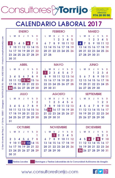 Calendario Laboral 2017 Pdf Calendario Laboral 2017 Mexico