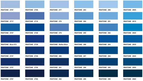 shades of blue chart monday blues