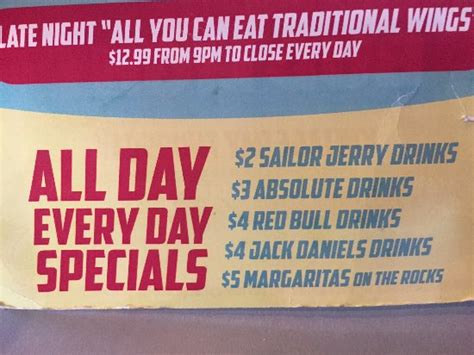 all day drink specials these are picture of
