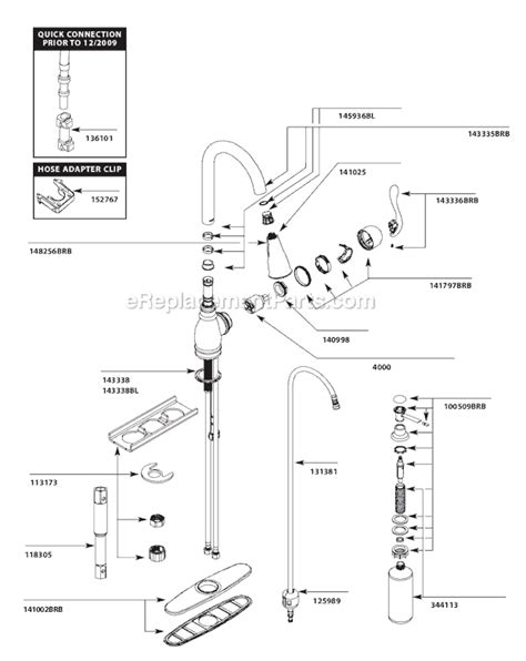 moen kitchen faucet parts diagram moen ca87003brb parts list and diagram ereplacementparts