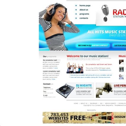 template joomla radio station free radio station template free website templates in css html
