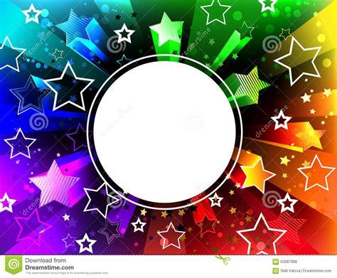Rainbow White Syar I banner on rainbow background stock photo image 63087988