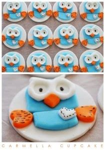 images  owl theme  pinterest owl cakes fondant toppers  owl cake toppers