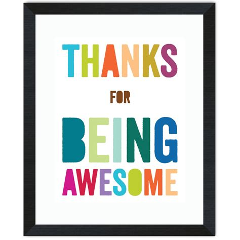 Being Awesome thanks for being awesome quotes quotesgram