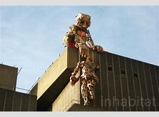 Giant Salvaged Wood Sculptures by Robots>>>> Ascend the ... Habitat Festival