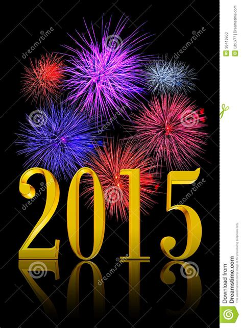 fireworks new year new year 2015 fireworks stock illustration image of date