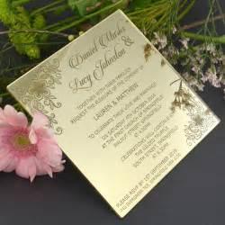 acrylic wedding invitations c6 engraved acrylic wedding invitations engraved wedding invitations unique wedding