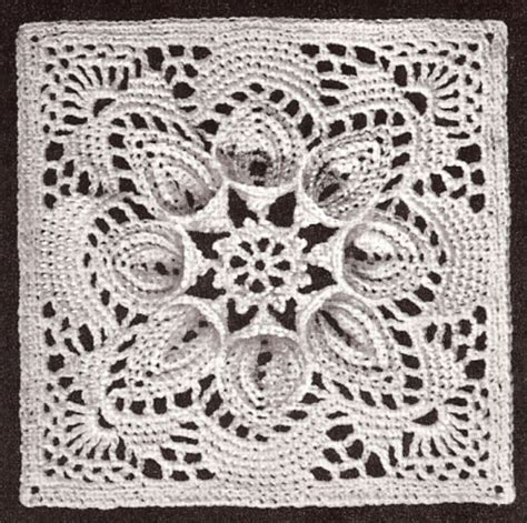 pattern and motif searches vintage crochet pattern to make bedspread motif block lily