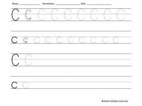 tracing and writing letter c worksheet