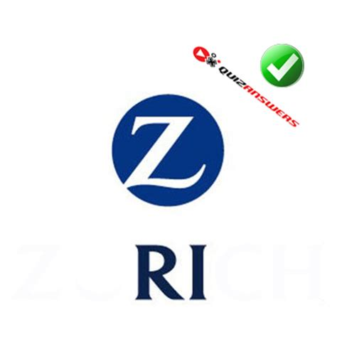 Title Letter Ri blue circle logo with z quotes