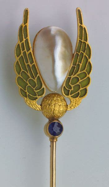 Sided Enamel And Pearl On Golden Stick Import 347 best images about exquisite hat pins on