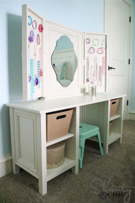 Diy Wood Vanity by Diy Vanity Shanty 2 Chic