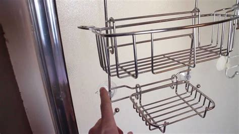 Stainless Steel Rust Proof Shower Caddy Youtube Bathroom Shower Caddy Rust Proof