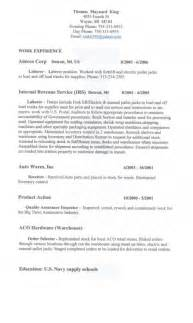 Resume Sles General Laborer Entry Level General Labor Resume Resume Template Exle