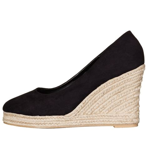 wedge shoes black wedges womens footwear
