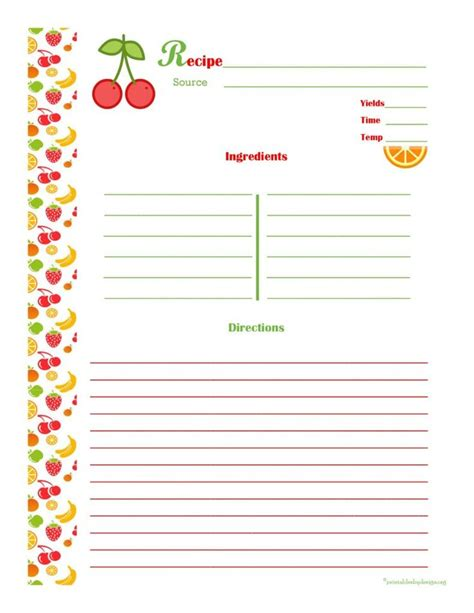 powerpoint cookbook template free recipe book template best 20