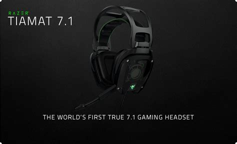 Headset Gaming Razer Tiamat razer tiamat 7 1 sort billig