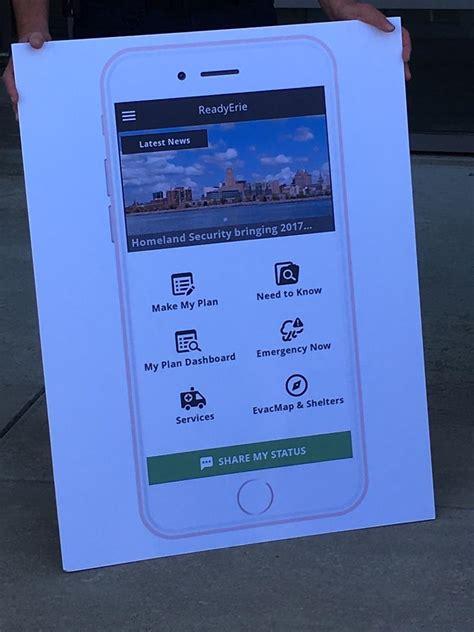 Info Lu Emergency ready erie app offers emergency help to local residents