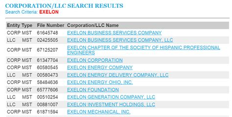 Search By Name And State Illinois Business Entity And Corporation Search Il Of State Sos