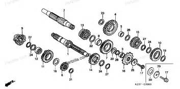 List Of Honda Transmissions Honda Motorcycle Parts 2003 Cr250r A Transmission Diagram