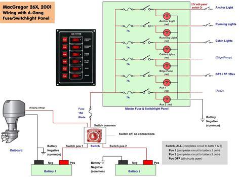 pontoon boat wiring schematic  wiring diagram
