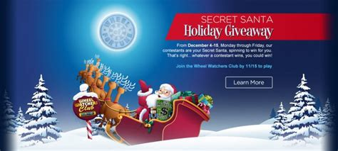 Wheel Of Fortune Sweepstakes Number - wheel of fortune secret santa sweepstakes 2017 spin id numbers more