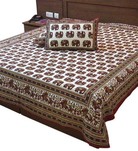 indian bed sheets little india ethnic rajasthani elephant print double sheet