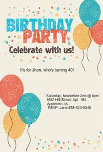 template for birthday invitations birthday invitations templates plumegiant