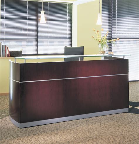 Napoli Reception Desk Mayline Furniture Nrs Mayline Napoli Reception Desk