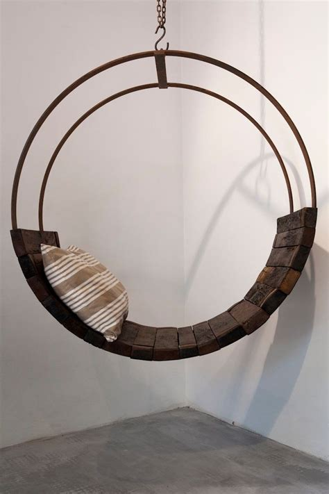 round swing chair diy rocking chair made from recycled barrels modern outdoors