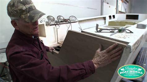 how to reinforce a fiberglass boat transom 1979 mako restoration 2013 2013 transom repair youtube
