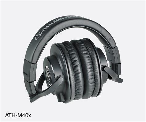 Audio Technica Ath M40x Headphones Original audio technica ath m40x headphones closed 35 ohms 3 5mm 6 35mm adapter coiled