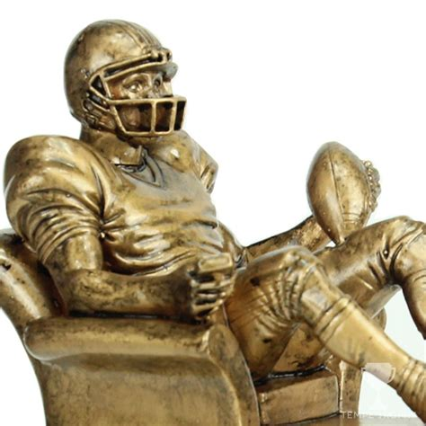 armchair quaterback golden armchair quarterback resin fantasy football trophy