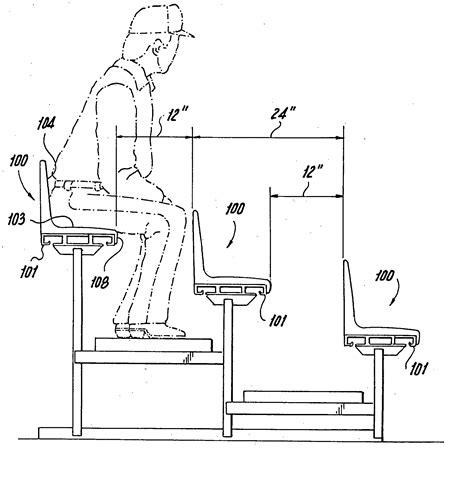 Amphitheater Floor Plan patent us20060108843 bleacher seat google patents