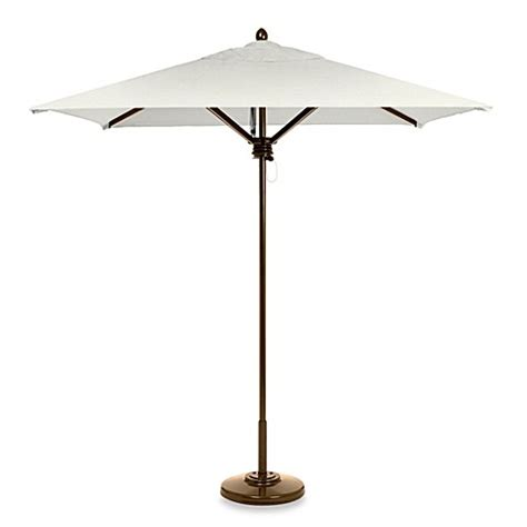 Buy Brown Jordan 7 Foot Square Patio Umbrella In White Brown Patio Umbrella