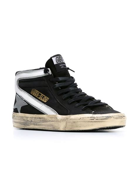 golden goose sneakers lyst golden goose deluxe brand slide hi top sneakers