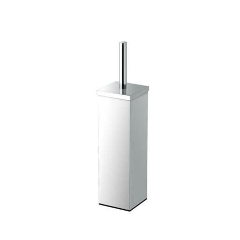 gatco square 3 63 in w toilet brush holder in chrome 1488