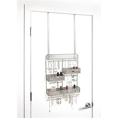 bed bath and beyond jewelry organizer juliette over the door jewelry organizer in silver bed