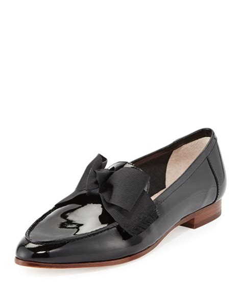 Madalena Square Flat Shoes kate spade new york cosetta patent bow loafer flat