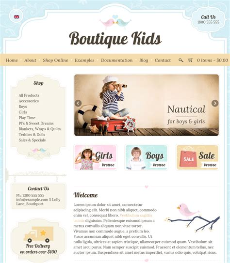 themes for children s clothing boutique kids creative wordpress theme by dtbaker